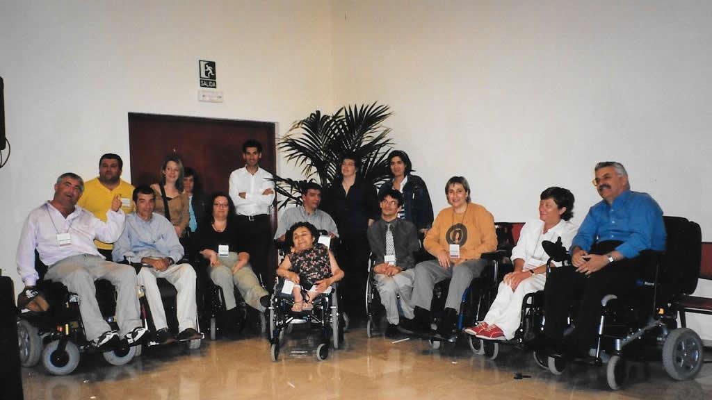 Algunos miembros del Foro de Vida Independiente durante una pausa.