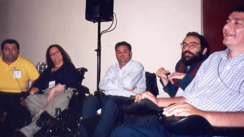 De izq. a dcha. Soledad Arnau, Jesús Hernández, Javier Romañach y Alejandro R. Picavea.