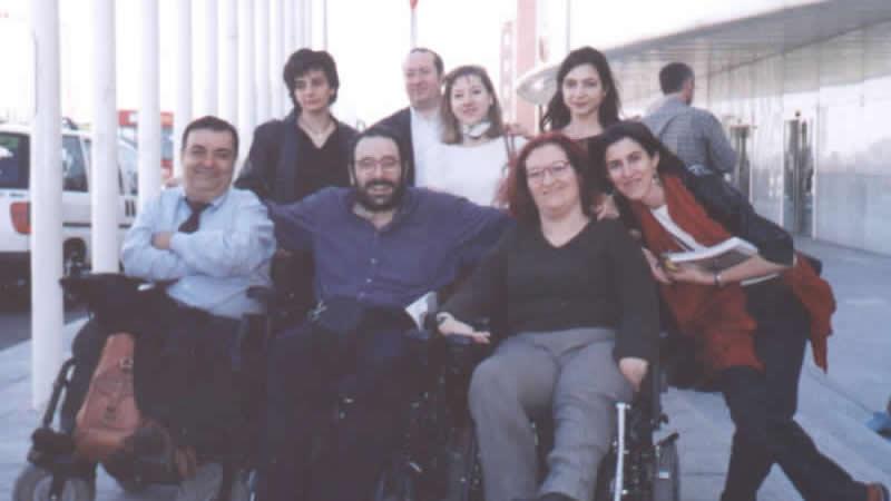 Miembros del FVI. De izq. a dcha., Manuel Lobato, Javier Romañach, Soledad Arnau y Nuria Villa.