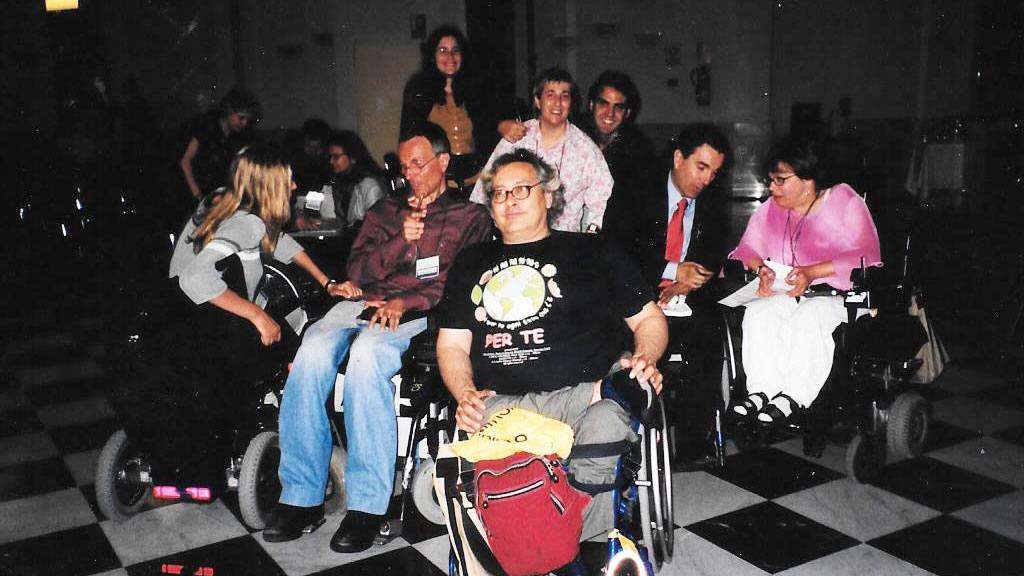 De izq. a dcha. Adolf D. Ratzka, Giampiero Griffo, Rosa Segrelles, Antonio Rodriguez y Judith E. Heumann.