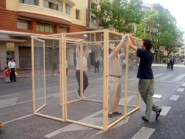 Montando la jaula