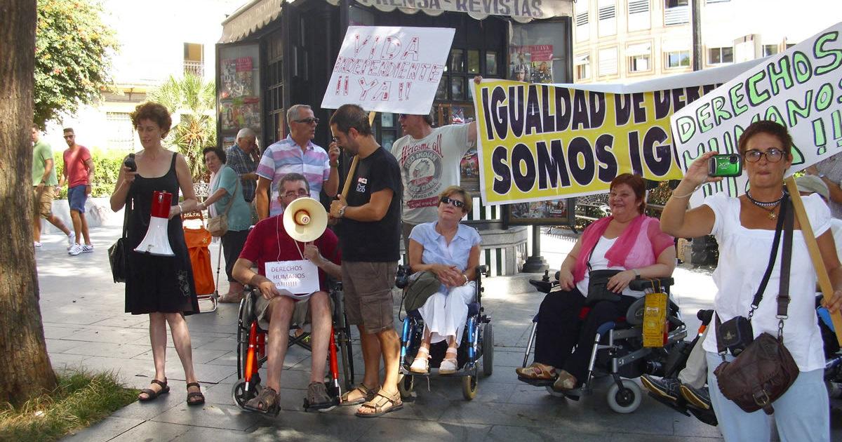 Miembros de Viandalucía durante una acción reivindicativa