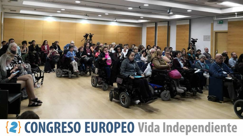 Vista general de los participantes en el Segundo Congreso sobre Vida Independiente